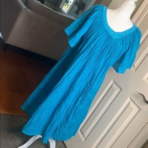 Nicole Stevens Turquoise Kaftan One Size